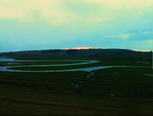 Cuckmere Haven, Sussex, British Countryside, river, sunset